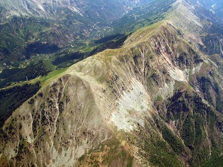 Aerial view of a mountainous aerea
