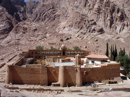 St. Catherine Orthodox Monastery, Sinai, Egypt Stock Photo