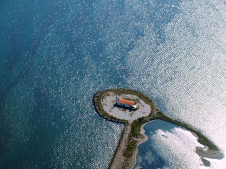 Aerial view of Lighthouse island