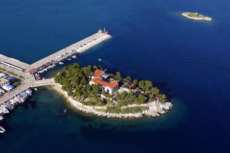 Bourtzi Skiathos, aerial view
