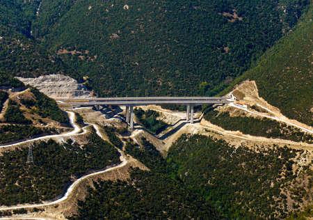 Highway bridge, aerial view Stock Photo