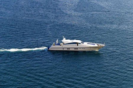 Yacht, aerial view