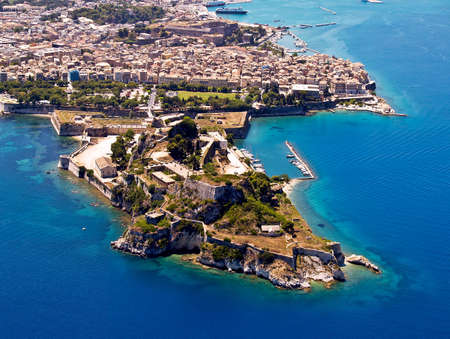 Old fortress of Corfu town, aerial view Stock Photo - 4138452