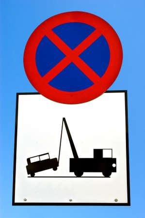 towed: No stopping. Vehicle may be towed away.