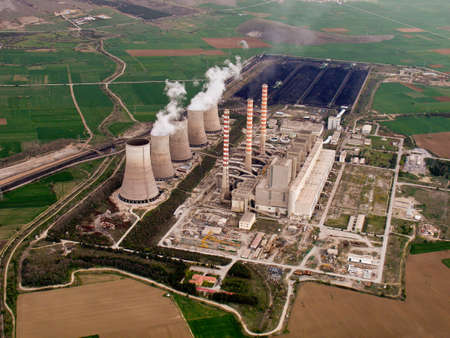 generating station: Power plant aerial view