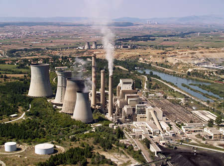 Power plant aerial view Stock Photo - 4349886