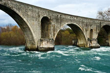 Old Roman stone bridge in Arta, Greece