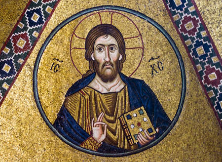 Jesus Christ mosaic, 11th century, Greece