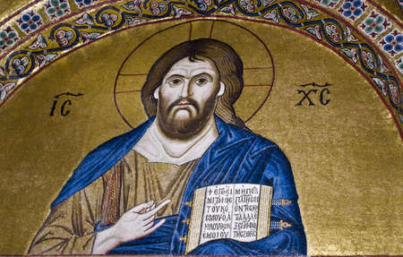 Jesus Christ, 11th century mosaic, Greece