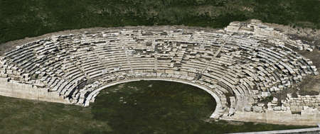 Ancient Greek theatre, aerial view.