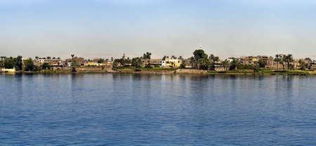Nile river, near Luxor, Egypt. Stock Photo
