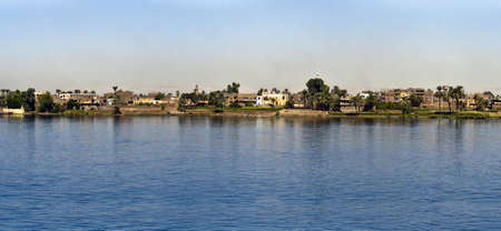 Nile river, near Luxor, Egypt. Stock Photo