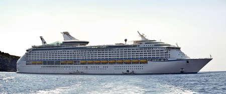 Large cruise ship at sea