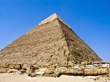 The Pyramid of Khafre, at Giza, Egypt Stock Photo