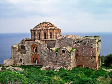 Agia Sophia 13th century Byzantine church, Monemvasia, Greece