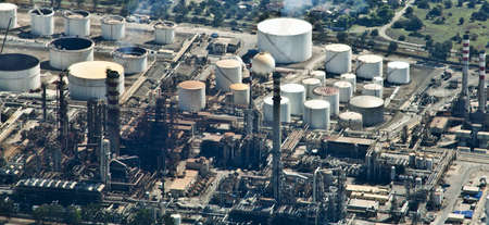 Oil Refinery, aerial view