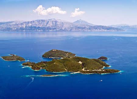 Skorpios island, near Lefkada, Greece, aerial view