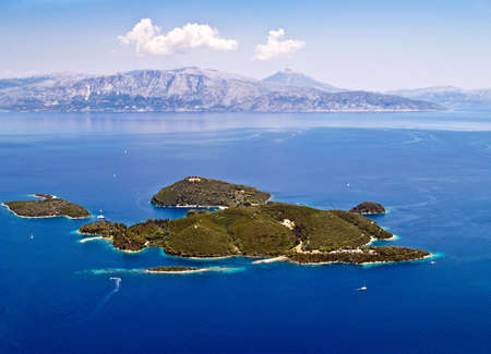 Skorpios island, near Lefkada, Greece, aerial view