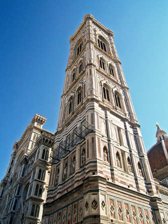 Giottos Campanile, at the Florence Cathedral, in Florence, Italy.