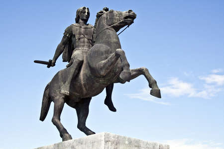 Statue of King Alexander the Great in Thessaloniki, Greece photo