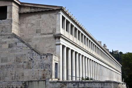 Building of Stoa of Attalos, Athens, Greece