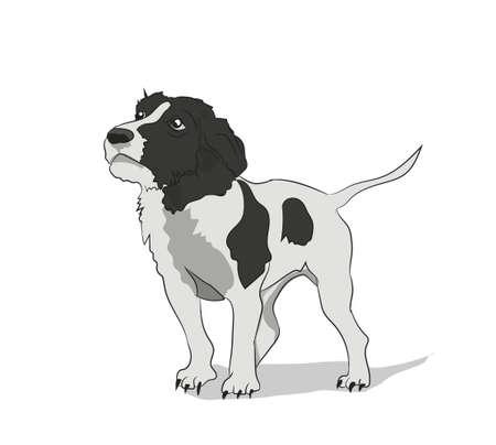 dog stands vector illustration Stock Illustratie