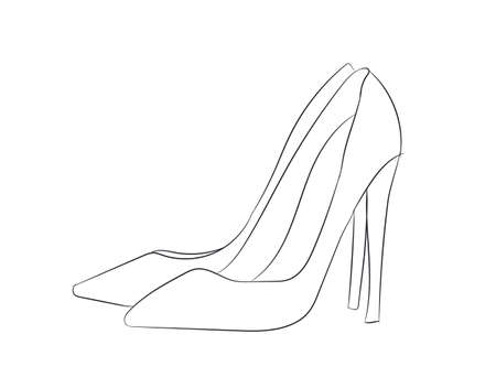 shoes lines vector illustration