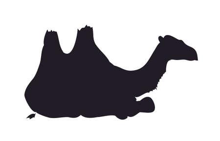 camel silhouette vector vector illustration  イラスト・ベクター素材