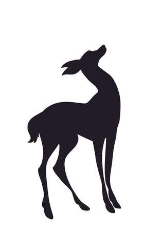 vector de silueta de ciervo, fondo blanco Ilustración de vector