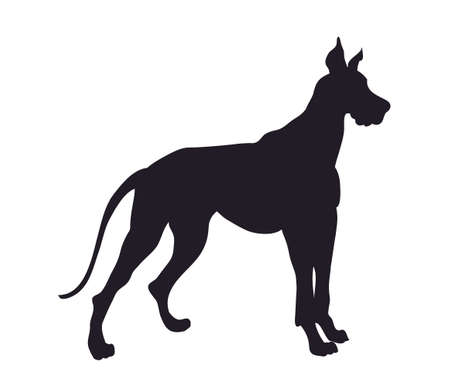 dog stands silhouette, vector, white background, vector