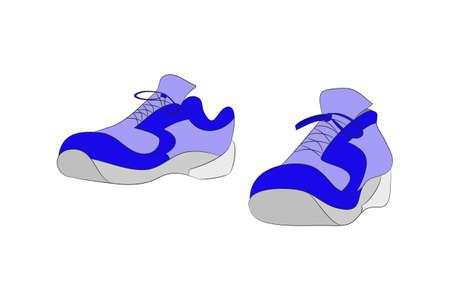 Vector illustration of shoes, color drawing, vector, white background