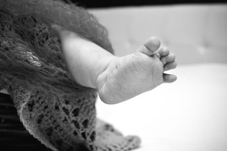 human toe: baby leg