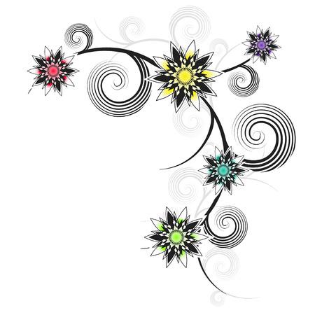 ornamente: Flower ornament - Stock Illustration Illustration