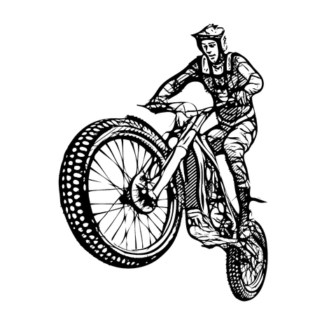 dirt bike: motocross vector illustration on white background