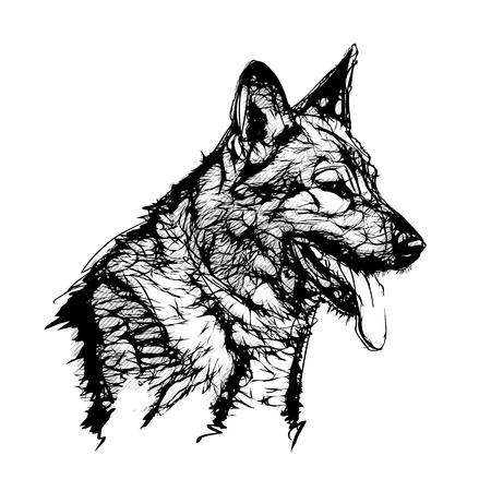german shepherd dog: German Shepherd Dog Vector Illustration