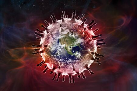 coronavirus earth in the space Stock Photo