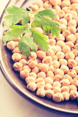 cros: Vintage photo of chickpeas grains