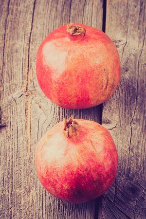 lomography: Vintage photo of pomegranates on old spoon