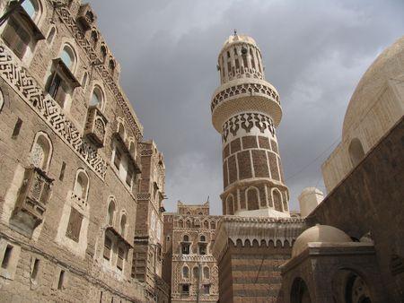 yemen: Earth Architecture in Sanna, Yemen  Stock Photo