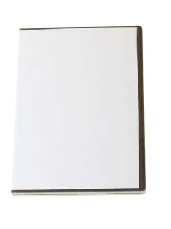 Blank DVD case on white photo