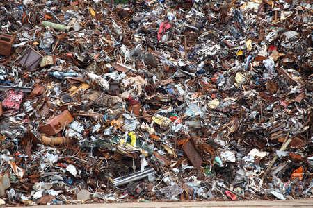 Rottami di metallo pronto per il riciclaggio texture di sfondo Archivio Fotografico