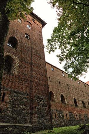 teutonic: Polonia vecchio castello vecchio Nidzica Teutonico Archivio Fotografico