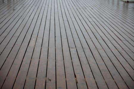 brown wood texture in rain with natural patterns Stock Photo - 11706477