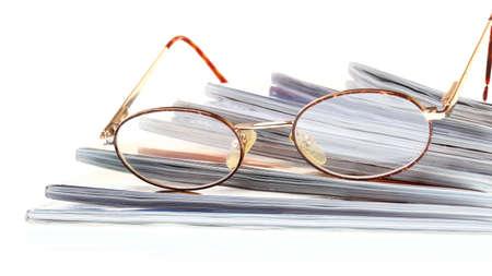 glasses eBook reader white isolated background nobody photo