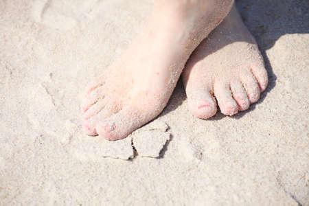 nice legs: nice legs pedicure red nail sand beach