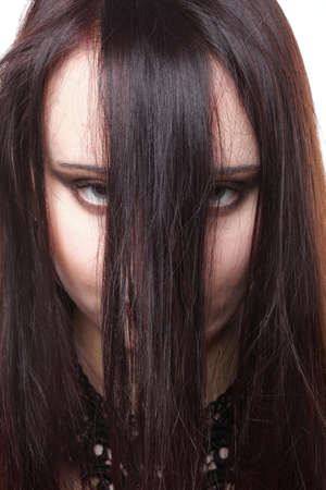 beautiful brunette woman with long hair Stock Photo - 13004508