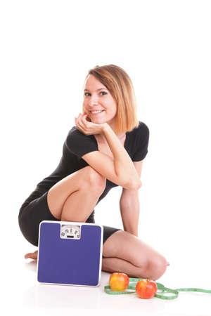 Retrato de mujer joven y saludable como concepto de dietas Foto de archivo