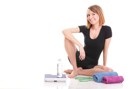 Portrait of young and healthy woman as dieting concept Stock Photo - 13258242