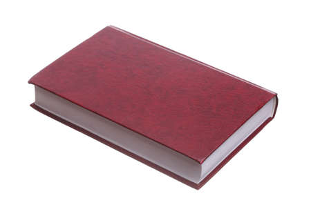 Isolated on white red book library object photo