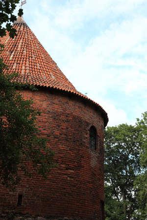 teutonic: Polonia vecchio castello vecchio Nidzica Teutonico Editoriali